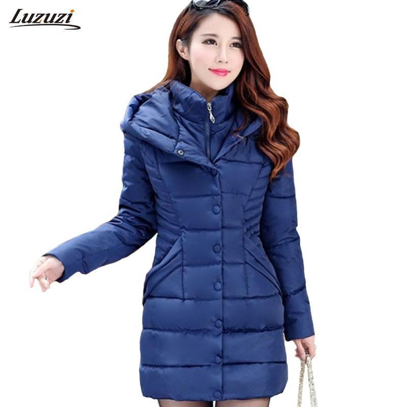 ec81ac45d0c0 Купить Оптом Зимняя Куртка Женщин С Капюшоном Парки Mujer Толстый ...