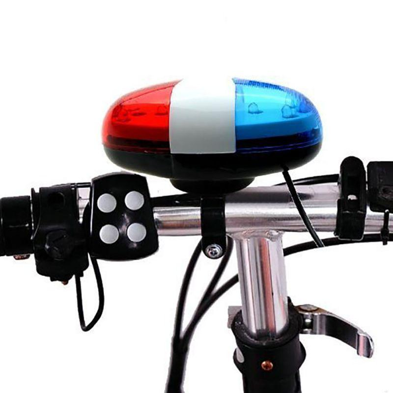 6LED 4Tone Horn for Bicycle Bike Bells LED Bike Light Electronic Siren for Kids Accessories Scooter H5