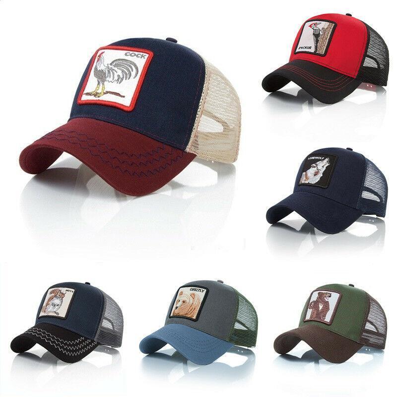 Apparel Accessories New Fashion Animals Embroidery Baseball Caps Men Women Gorras Unisex Snapback Hip Hop Hat Summer Breathable Mesh Sun Cotton Hat