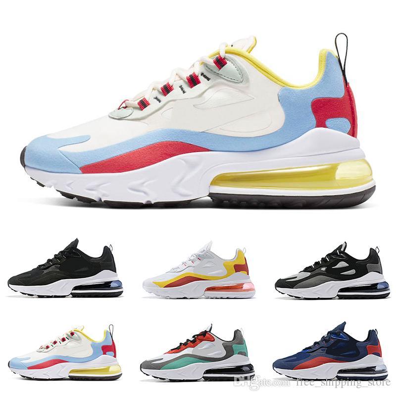 Basket Nike Air Max 270 React Chaussures De Running Blanc
