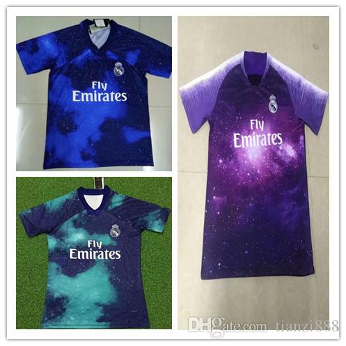 a9559e6ab97 1819 Real Madrid Limited Edition Soccer Jersey Blue Shirt RAMOS ...