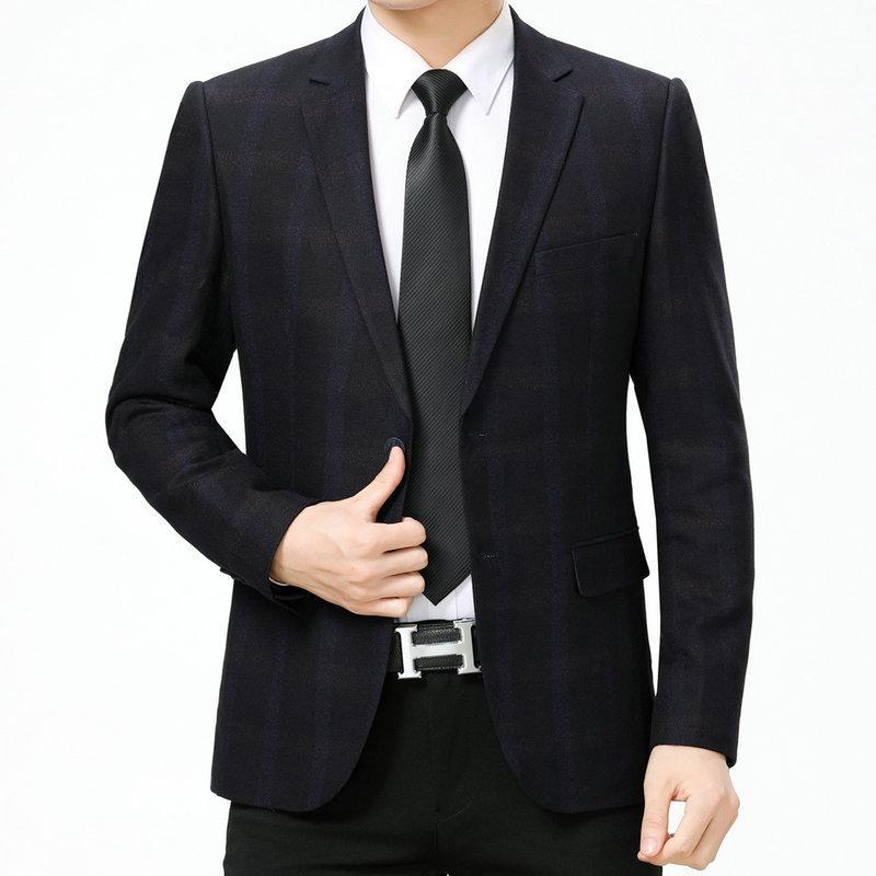 Compre WAEOLSA Hombre Dark Plaid Blazer Hombres Trajes Negros Chaquetas  Ropa Slim Fit Hombre Elegancia Blazer Masculino Trajes De Oficina 2019 A   90.53 Del ... caa17e82fcde