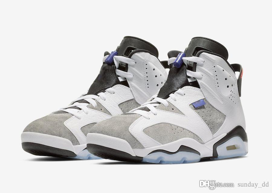 191be1261e5ee2 2019 2019 Release 6 Flint Grey Basketball Shoes White Black Infrared 23  Dark Concord Suede Men 6S Sneakers CI3125 100 With Original Box From  Sunday dd