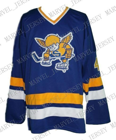 Custom Minnesota Fighting Saints Retro Hockey Jersey New Walton Personalized stitch any number any name Mens Hockey Jersey XS-5XL