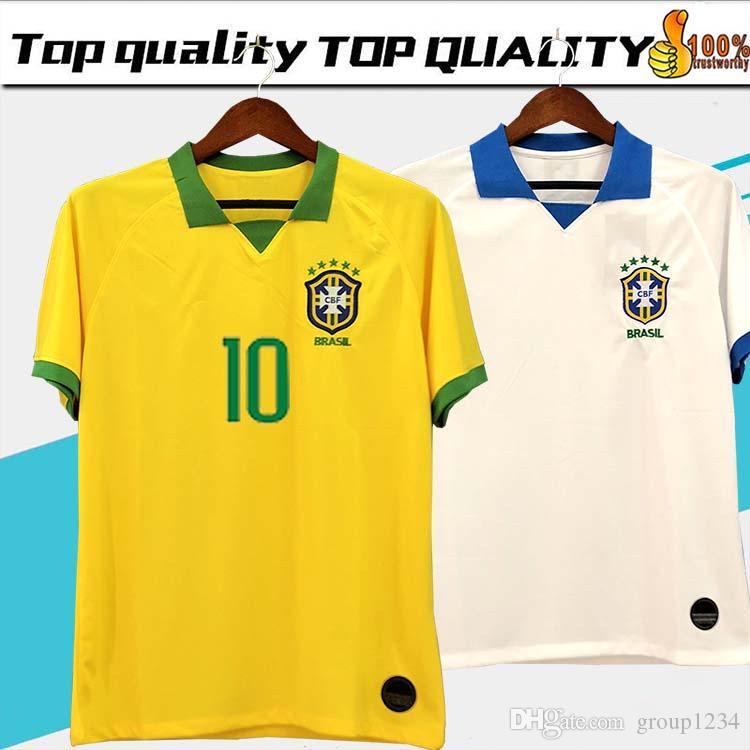 7536193c3 2019 2019 20 Brasil Soccer Jerseys Men Brazil Jersey 2019 2020 JESUS  COUTINHO FIRMINO MARCELO Football Kit Shirt Camisa Football Shirt G.JESUS  From ...