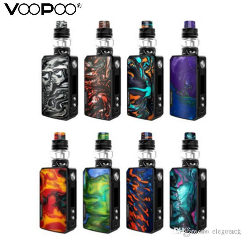 Voopoo Drag 2 Starter Kit 177W TC Box Mod with Uforce T2 Tank Use U2 U3  Mesh Coils Innovative FIT Mode Authentic Electronic Cigarettes Kits