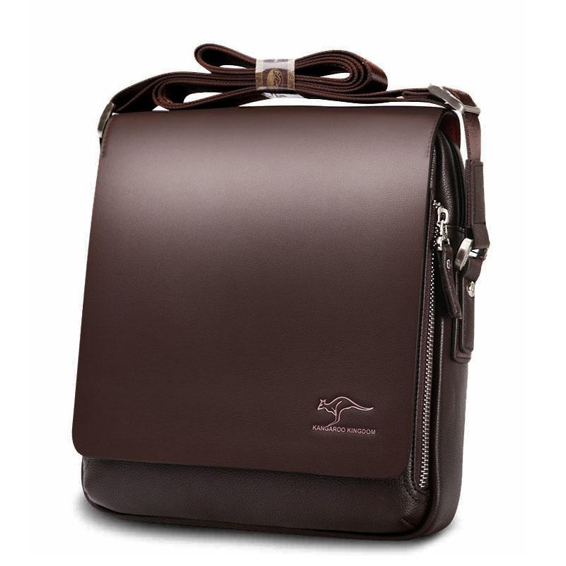 2c43771b5f3b4 Cross-Border Amazon Kangaroo Men s Bag Vertical Shoulder Bag Leather Men s  Crossbody Business YI418
