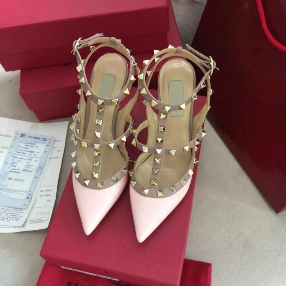 Женщины на высоких каблуках кроссовки ну вечеринку мода заклепки девушки сексуальные острым носом обувь пряжки туфли на платформе свадебные туфли черный белый розовый цвет HD