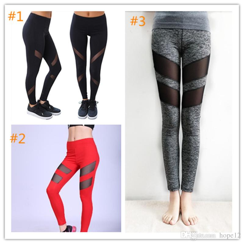 b93a563197e37b 2019 Selling Sexy With Mesh Womens Yoga Pants Compression Running Tights  Woman Trousers Yoga Leggings Breathable Sport Gym Pencil Pants From Hope12,  ...