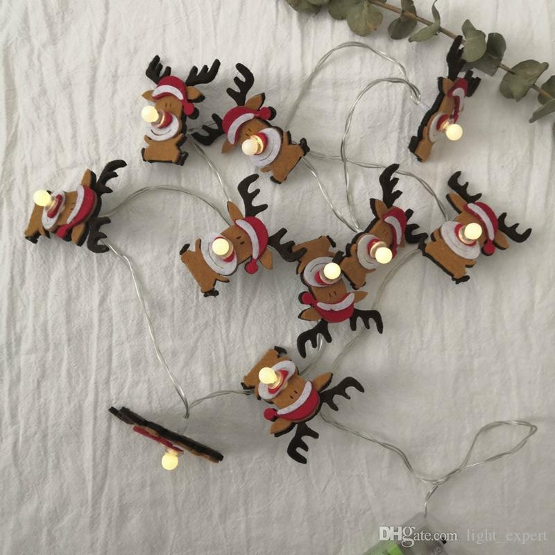 Christmas Deer LED Light String 10 Light Battery Operation Fairy Christmas Light, Indoor Outdoor Wedding Family Decoration lamps