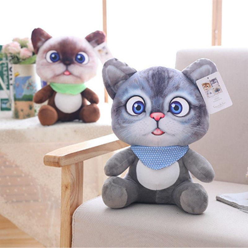 2019 1pc 12cm Mini Cute Plush Cat Toys Stuffed Plush Animals Cartoon Cat Doll Toys Kids Toys Girls Gifts