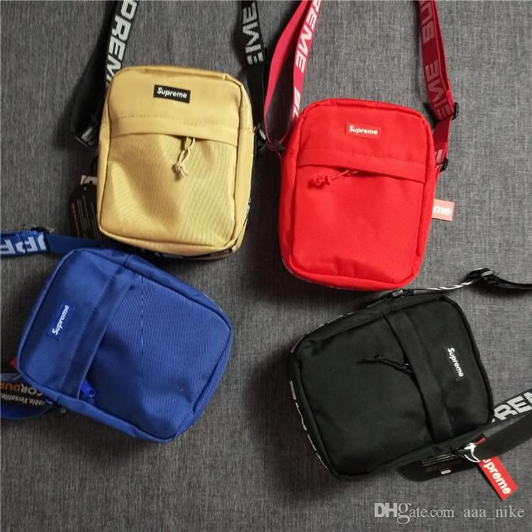 New Sup 44th Fanny Pack Chest Pack sup Unisex Fashion Waist Bag Men Canvas Hip-Hop Belt Bag Men Messenger Bags 18ss Small Shoulder A04