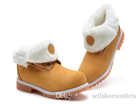 ae8ed4162d Compre Alta Calidad Womens Timber Roll Top De Lana De Arranque Con Crema De  Trigo Timber Brand Designer Shoes Fashional Botas De Senderismo Para Mujeres  ...