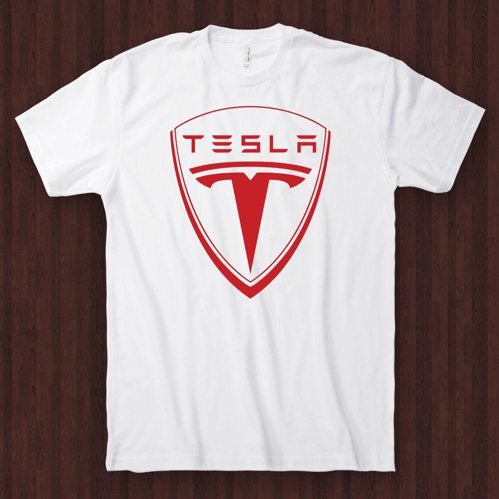 902faf63c Tesla Motors T Shirt Electric Model S Roadster Car T Shirt White ...