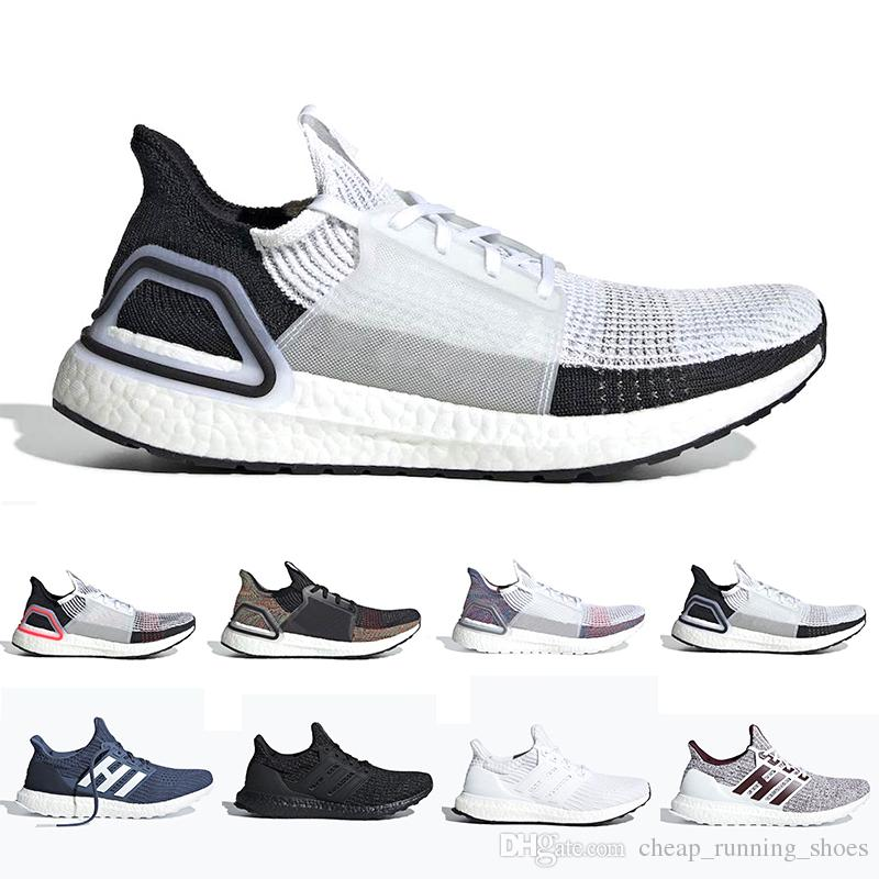 ec3d34c98c4a4 Cloud White Black Ultra Boost 2019 Ultraboost Mens Running Shoes Refract  Clear Brown Primeknit 4.0 Sports Trainer Men Women Sneakers 36 45 Running  Shop ...