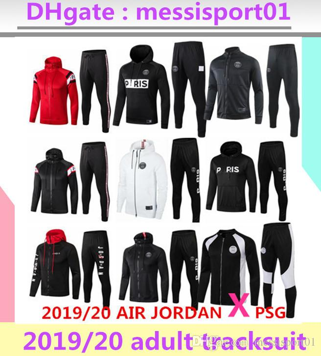 2019 2020 paris jacket hoodie Survetement 1920 paris MBAPPE football jacket air jordam soccer TRACKSUIT