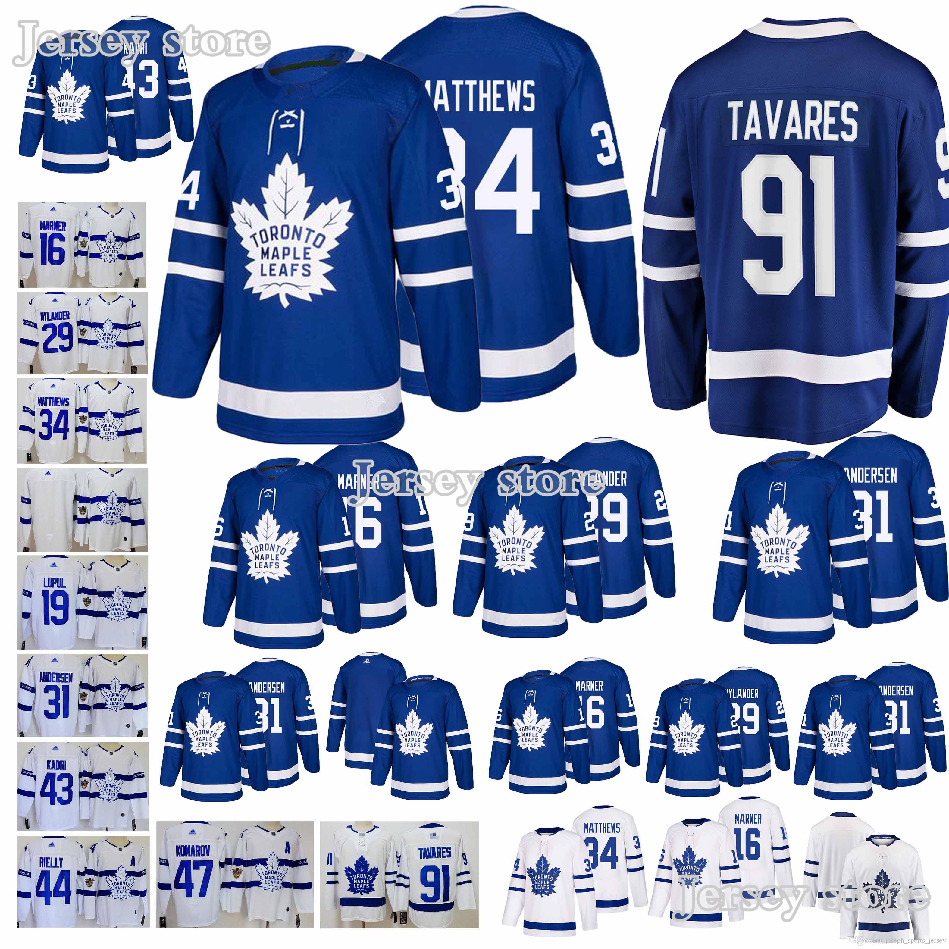 meet 721e1 9a2eb Toronto Maple Leafs jerseys 34 Auston Matthews 16 Mitch Marner 43 Nazem  Kadri High-quality new men jersey