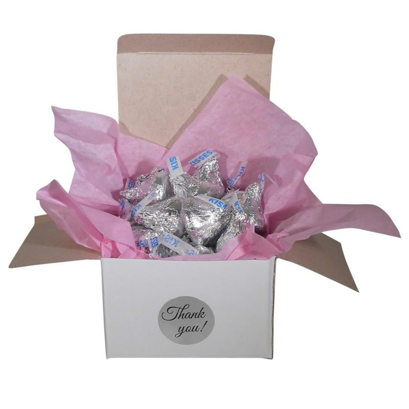 """wedding decoration party decoration stickers Thank You Sticker Label Roll, 1"""" Circle, Silver Foil for Hand Made"""