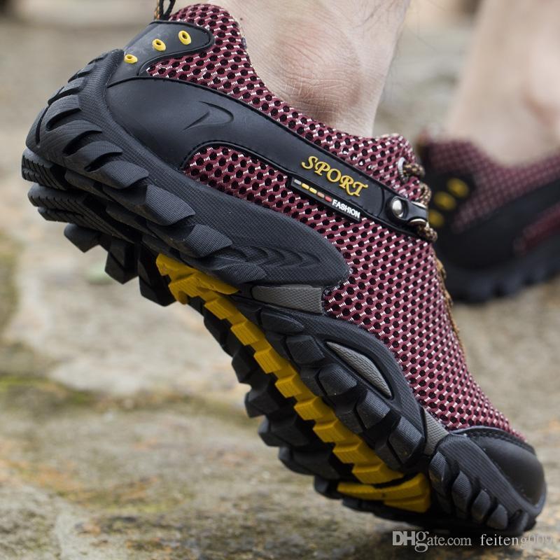 pretty nice 6c6a3 975c5 scarpe da trekking estivi da uomo uomini mesh traspirante campeggio  arrampicata trekking scarpe da uomo sneakers trekking tattico # 4442