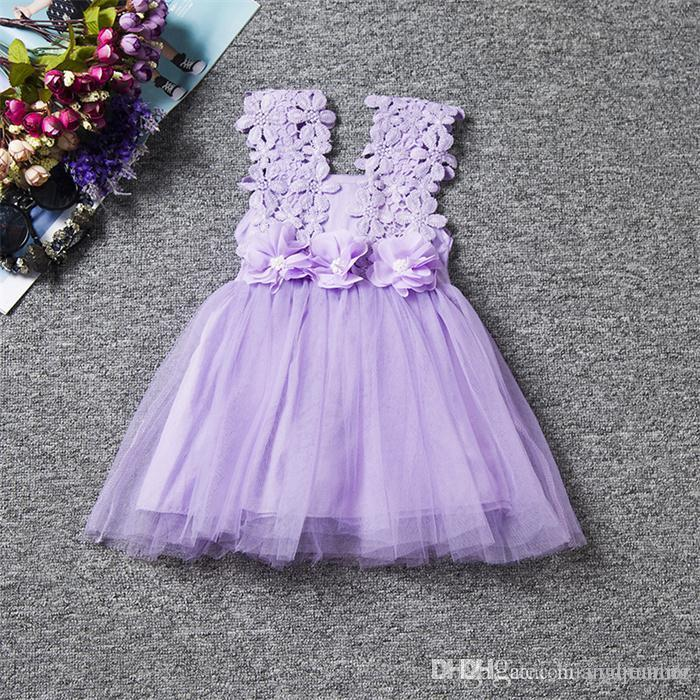 Flower Dress For Wedding Kids Lace Tutu Birthday Clothes Kids Girls Casual Dresses For Party Pregnant Gowns Frocks Children Events Costume