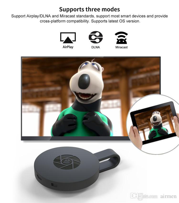 Nuovo MiraScree G2 Wireless TV Stick Dongle TV Stick HD 1080P 2.4G HDMI TV Dongle supporto Airplay DLNA Google Play Chromecast Epacket libero