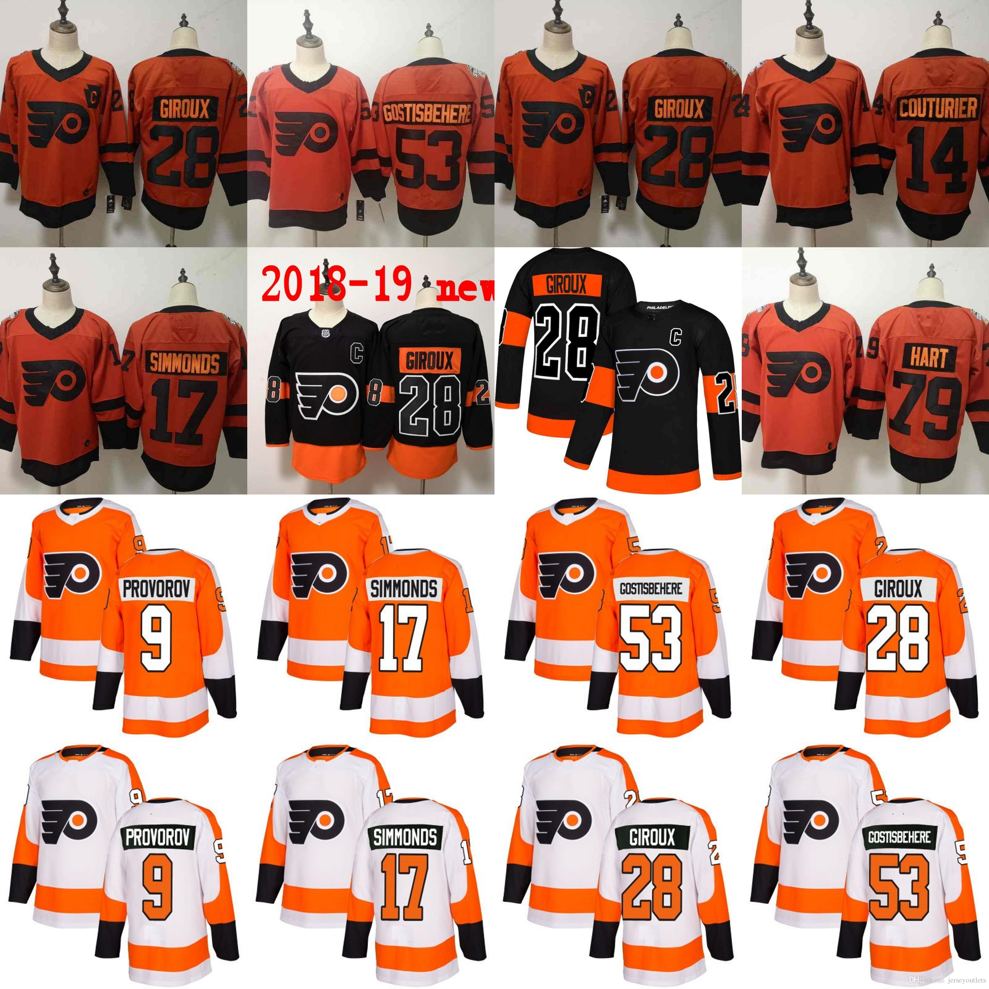 11f836d5f28 ... philadelphia flyers gostisbehere jersey 2019 2018 Men Philadelphia  Flyers 53 Shayne ...