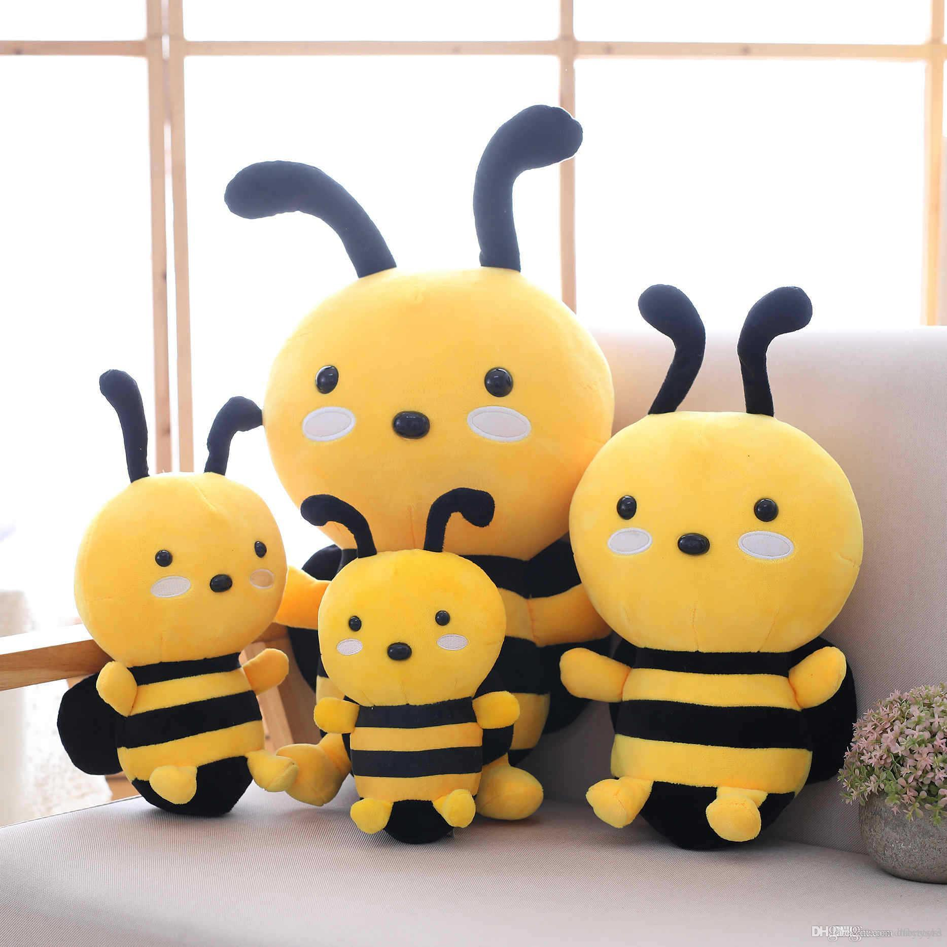Good Miaoowa 20-30cm Kawaii Honeybee Plush Toy Cute Bee with Wings Stuffed Baby Dolls Lovely Toys for Children Appease