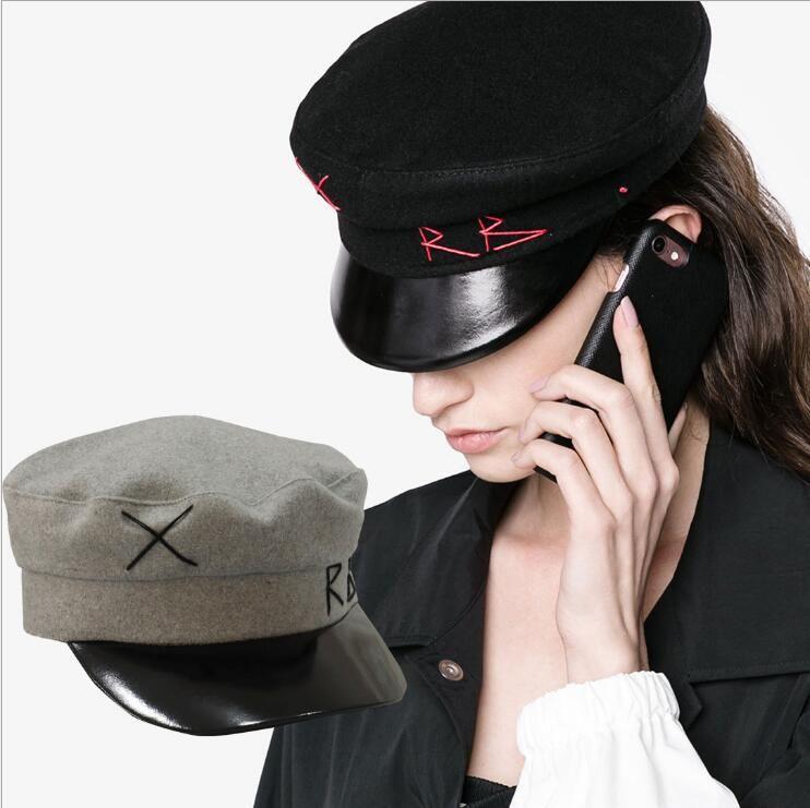 2ddcb32c056126 2019 Beret Hat Vintage Newsboy Cap Women Embroidery Military Wool Baker Boy  Caps British Classic Female Gatsby Flat Hats Cny921 From Unicorns_fashion,  ...