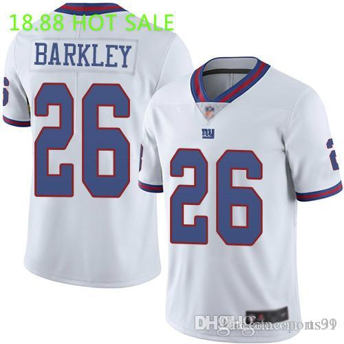 Mens #8 Daniel Jones Jersey #97 Dexter Lawrence #27 Deandre Baker White Royal Color Rush Taylor Top Quality USA football jerseys First time