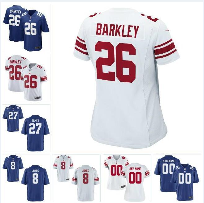 pretty nice 4e8d5 323a4 27 Deandre Baker Saquon Barkley NY Giants Jersey Daniel Jones Dexter  Lawrence George Asafo-adjei custom american football jerseys teams mens
