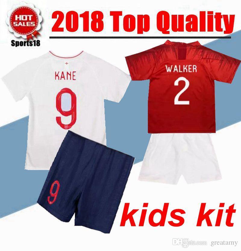 2019 Kinder Trikot England Fußball Trikot ROONEY KANE STURRIDGE STERLING HENDERSON VARDY Jungen Fußball Trikots CALCIO Shirt