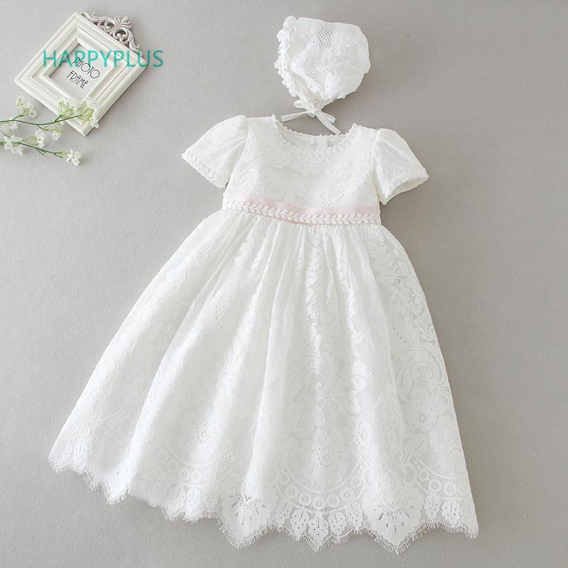 b1f62a249d8d3 Happyplus Beige Infant Dress For Christening Girls Maxi Baby Girl Lace  Dresses Baptism Baby Clothes Birthday Christmas Outfits Y19050801