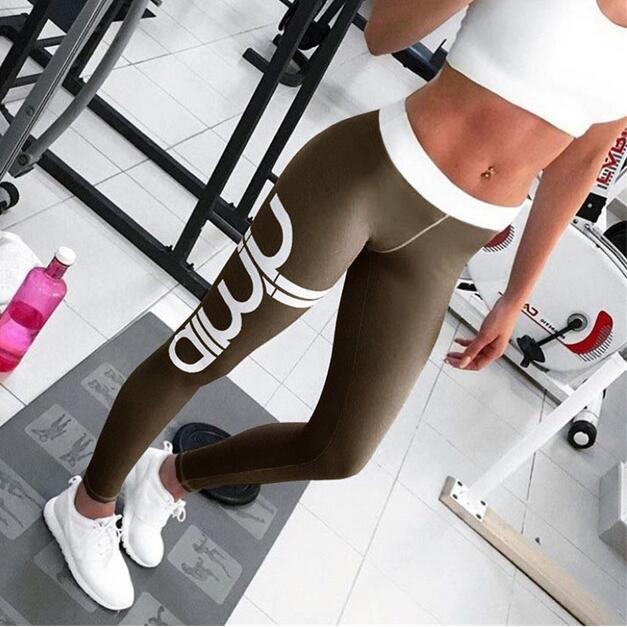 1e3e783383247 Non-see 2019 New Throgh High Waist New Women Pant Yoga Pants Solid Black  Sports Gym Wear Leggings Elastic Fitness Lady Overall Full Tights Women's  Pants ...