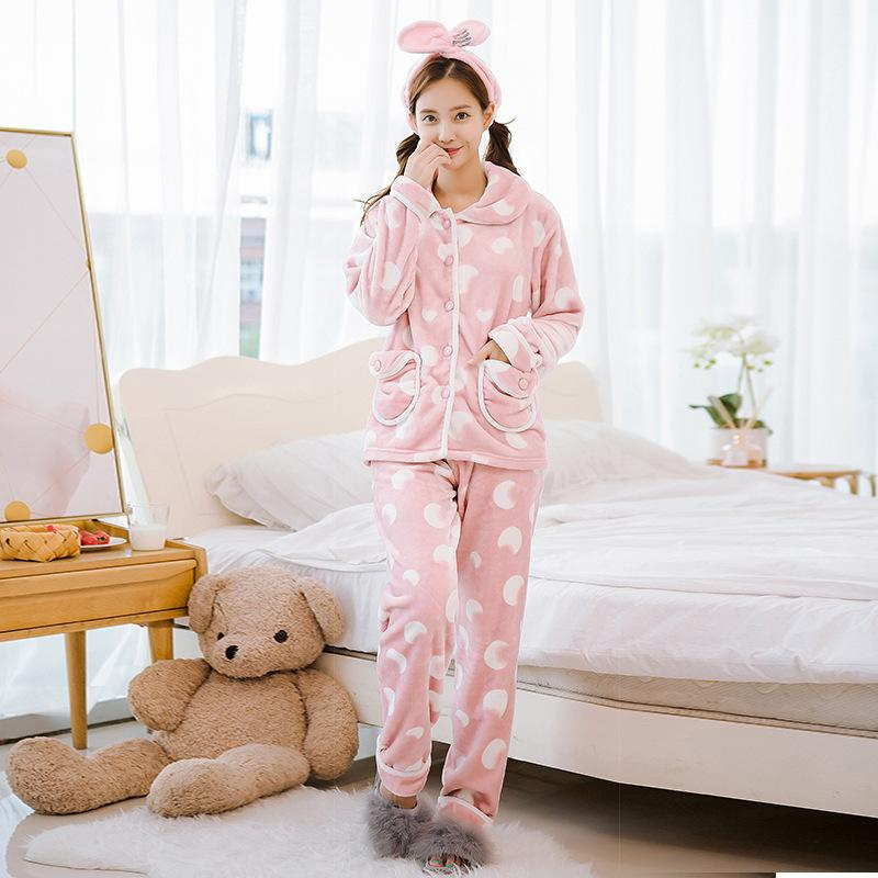 740b7848b6c 2019 Womens Flannel Nightgowns Pajamas Sleepwear 2019 Autumn Winter Plus  Size Nightwear Sexy Home Suit Household Thickened Warm From Viviant