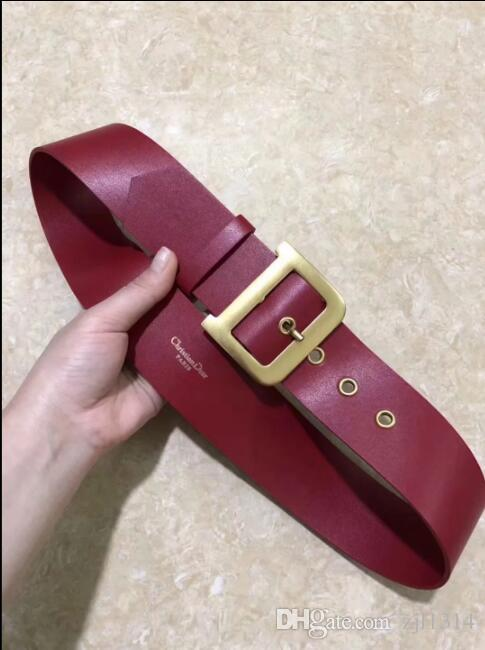 High-grade belt, low-key black belt body with large buckle, top fashion belt D 'ao women free shipping!
