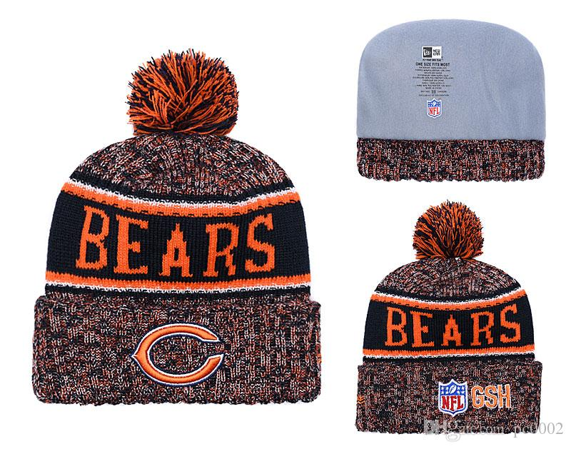 88c719df Men's Chicago Bears Biggest Fan 2.0 Cuffed Knit Hat Navy Thanksgiving  Cuffed Pom Knit Hat 01