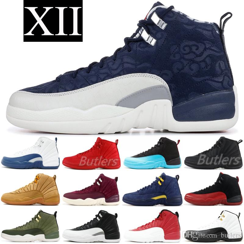 12 XII Herren Basketball-Schuhe New Wntr Gym Rot PRM OVO Wolle Taxi French Blue 12s Designer Schuhe Leichtathletik Sneakers Trainer 5.5-13