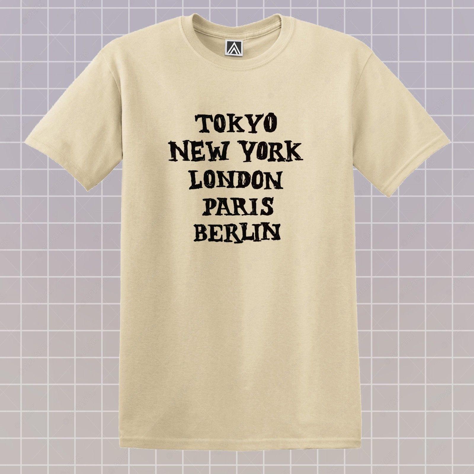 PARIS NEW YORK TOKYO LONDON T SHIRT UNISEX MENS WOMENS FUNNY HIPSTER FASHION