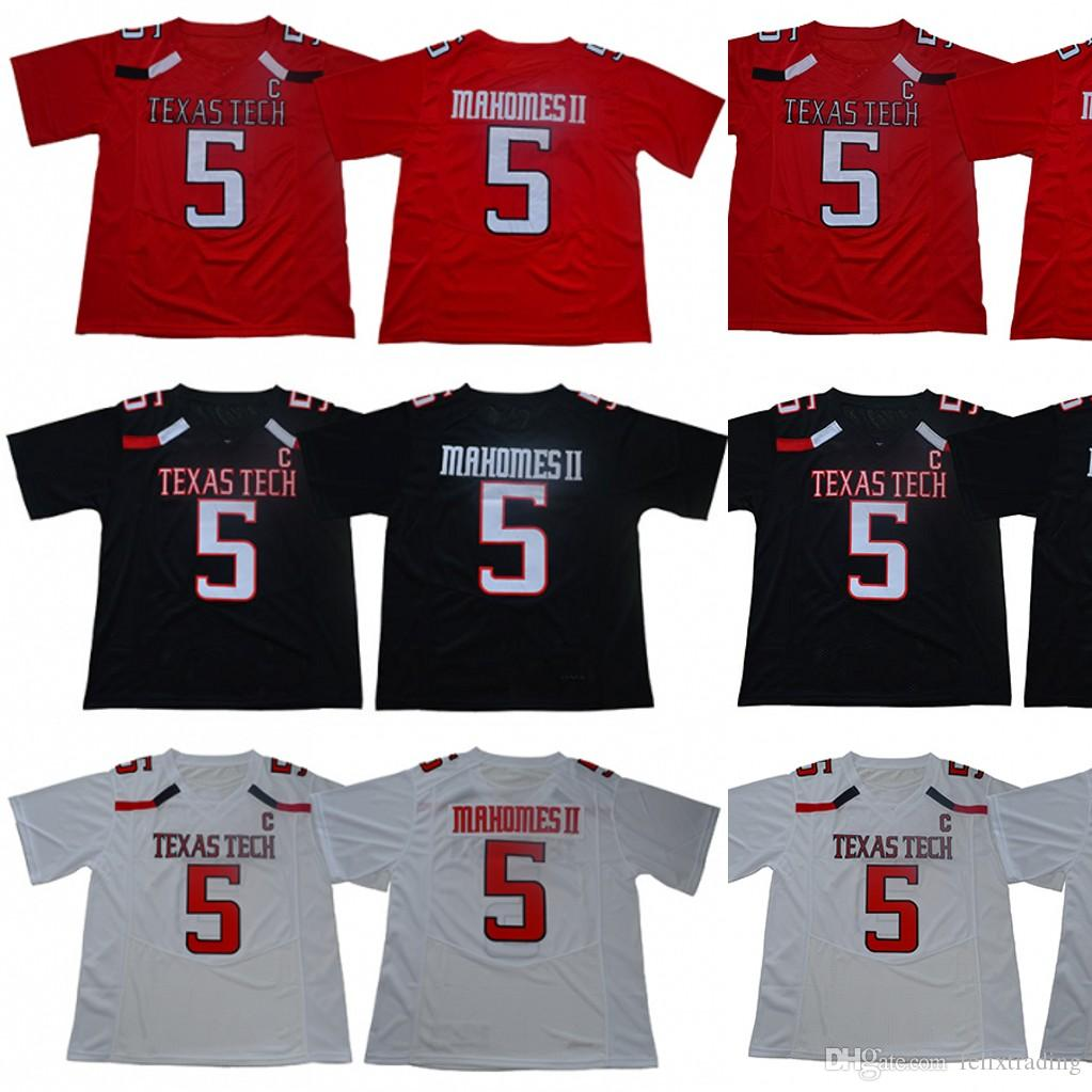 5f1998f048c 2019 #5 Patrick Mahomes II Texas Tech Red Raiders College Football Jersey  Men Football Jersey Black White Size S To 3XL From Felixtrading, $16.26 |  DHgate.
