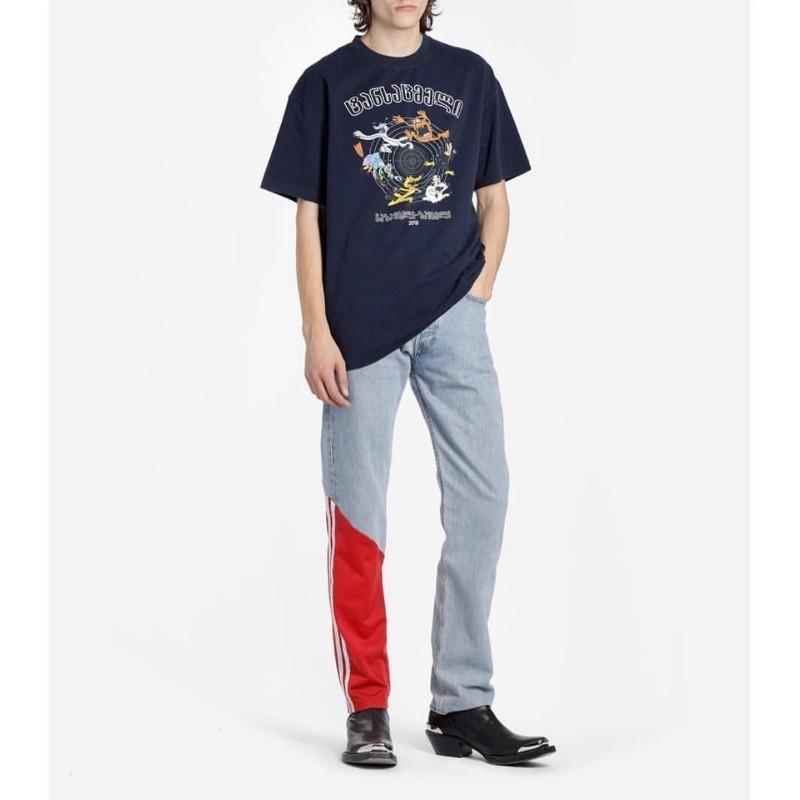 5166c4aa Vetements Metal Vtm Tee Rainbow Gradient Printing Fashion Casual T Shirt  Streetwear Hip Hop Sport Summer Men Women Loose Tee HFTTTX107 White T Shirt  Designs ...