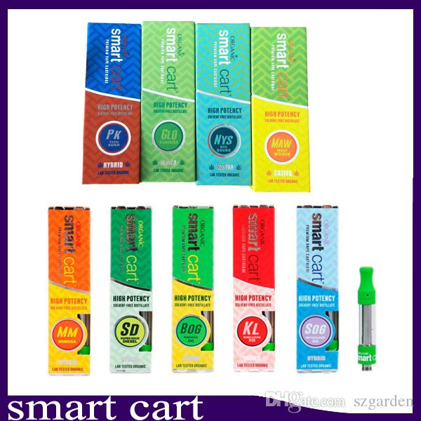 Newest Smart Cart Vape Cartridge 22 flavor for option 1 0ml Ceramic Coil  New Magnetic Box Package Top Filling leaking proof Design 0266259