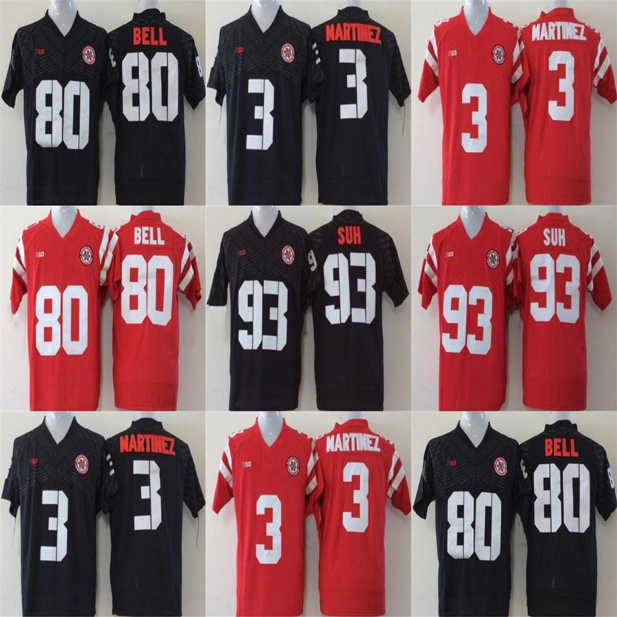 huge selection of 57ac7 3a079 Factory Outlet Custom Mens Womens Kids College Nebraska Huskers 3 Taylor  Martinez 93 Ndamukong Suh 80 Kenny Bell Red Black Football Jerseys