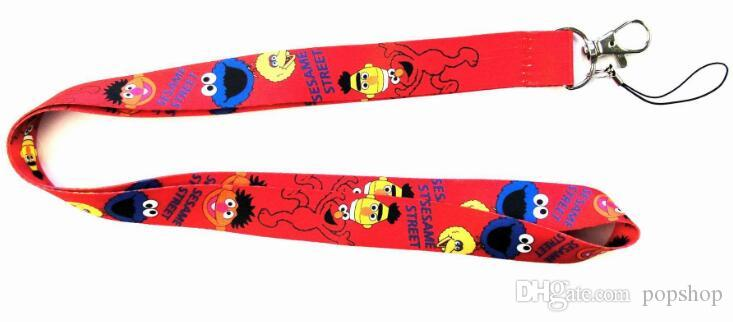 Cartoon Sesame Street Lanyard Neck Straps Cell Phone Rope ID Card Keychain Pendant Fashion gifts