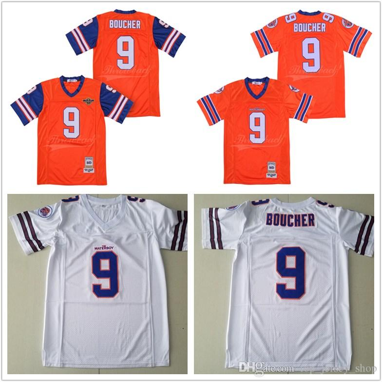 Bobby Boucher  9 Adam Sandler MOVIE The Waterboy Mud Dogs Jersey With Bourbon  Bowl Patch Double Stitched Football Jerseys UK 2019 From Top jersey shop 27fb3cee7