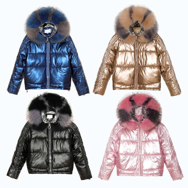 New Winter jackets for women Reflective fabric fashion Parka large fur collar warm stuffing cotton Windbreaker outwear women coats parkas