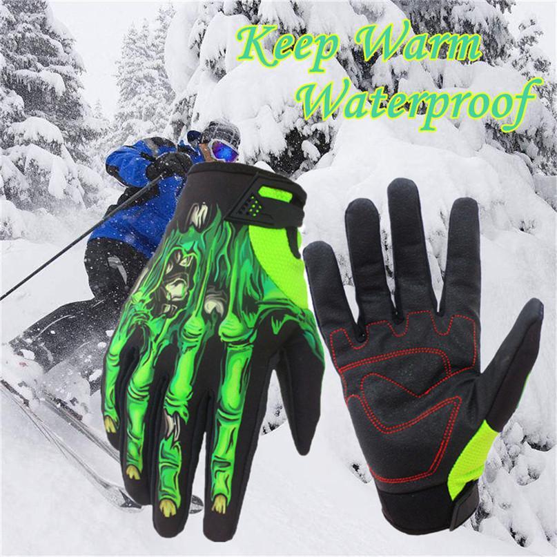 e4b379d446 1 paio Guanti da sci Uomo Donna Guanti invernali caldi Guanti da ciclismo  Impermeabili Snowboard Sci Sport confortevoli morbidi # 2N07