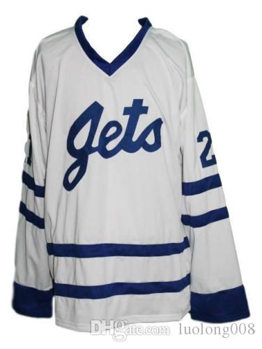 915038c993a 2018 Johnstown Jets Retro Hockey Jersey New Carlson White Embroidery  Stitched Customize Any Number And Name Jerseys From Luolong008