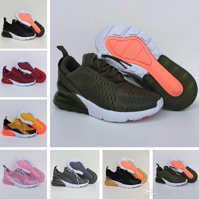 Compre Nike Air Max 27c 270 Zapatillas De Deporte AirCushion Para Niños De  Malla Tejida Originales 270 OG 1 2 AirCushion Amortiguadores Para Niños ... 5f24a774c7429