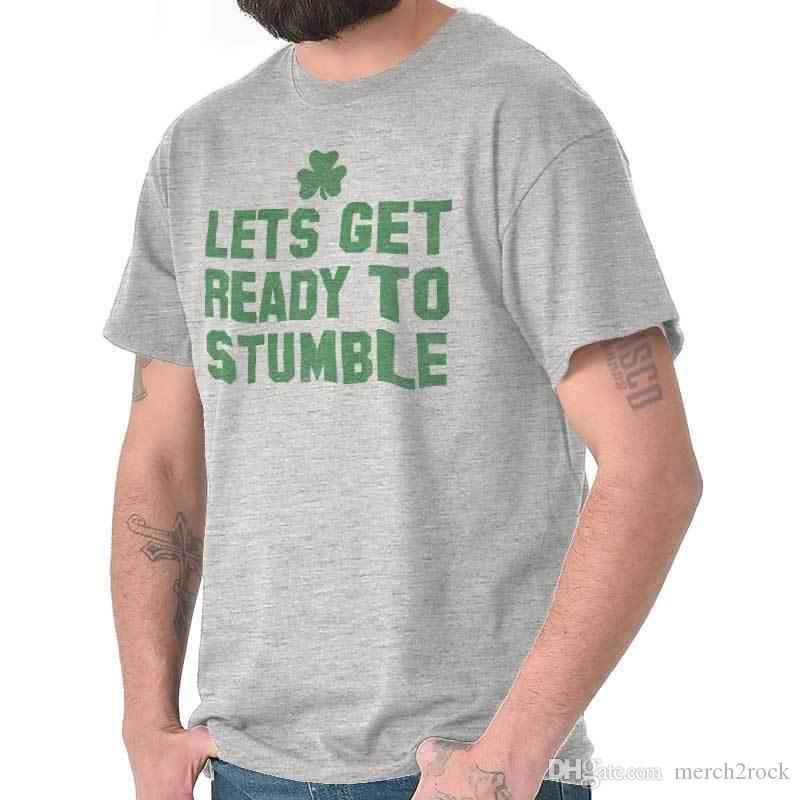 e33070e1 Let Get Ready To Stumble St Patrick Day Patty Shirt Cool Gift T Shirt Crazy  Design Shirts Best Tee Shirt Sites From Merch2rock, $10.95| DHgate.Com