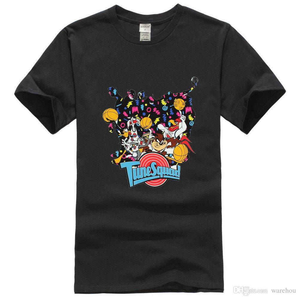03307f41 Looney Tunes Space Jam Shirt Tune Squad Men's Movie Poster T-Shirt Medium